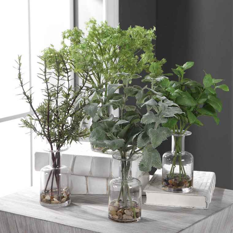 Ceci Kitchen Herbs Set/4 - Size: 41H x 30W x 25D (cm)