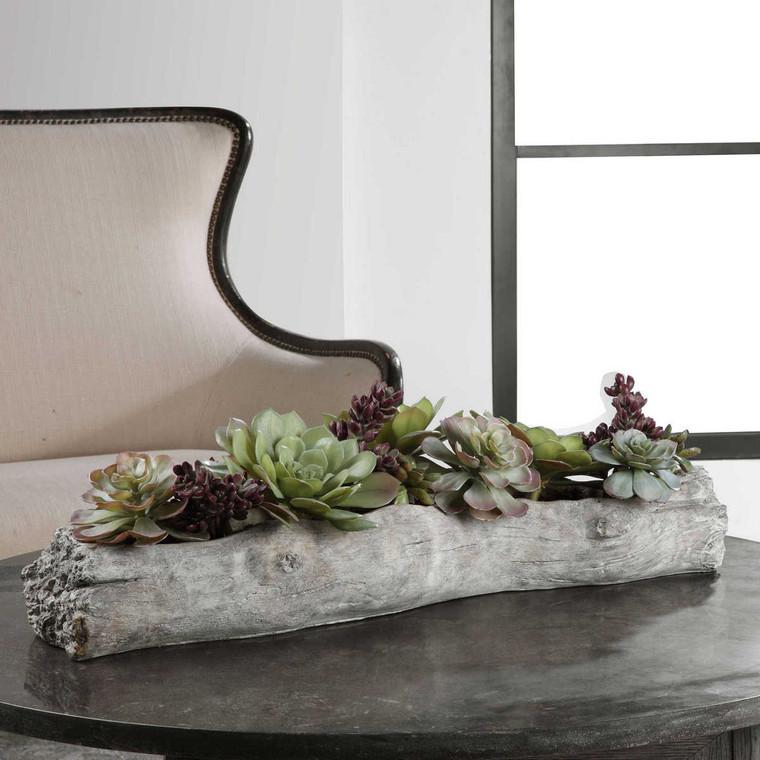 Charita Lush Succulents - Size: 25H x 75W x 25D (cm)