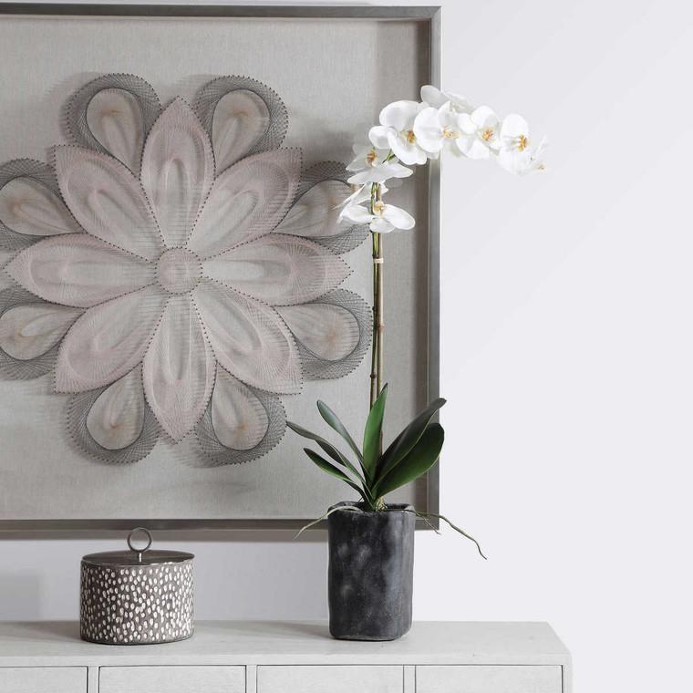 Eponine White Orchid - Size: 87H x 36W x 14D (cm)