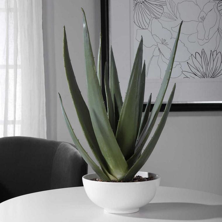 Evarado Aloe Planter - Size: 76H x 42W x 42D (cm)