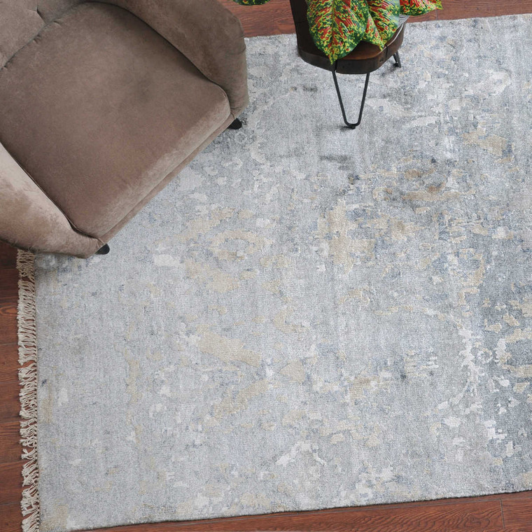 Bhutan Gray 6 X 9 Rug - Size: 274H x 183W x 1D (cm)
