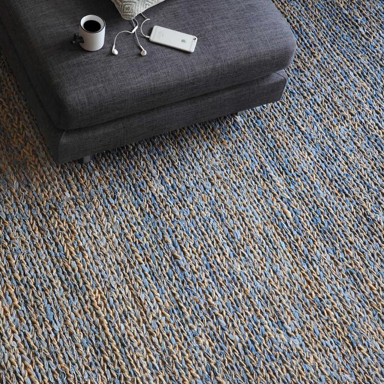 Euston Natural-Blue 8 X 10 Rug - Size: 305H x 244W x 1D (cm)