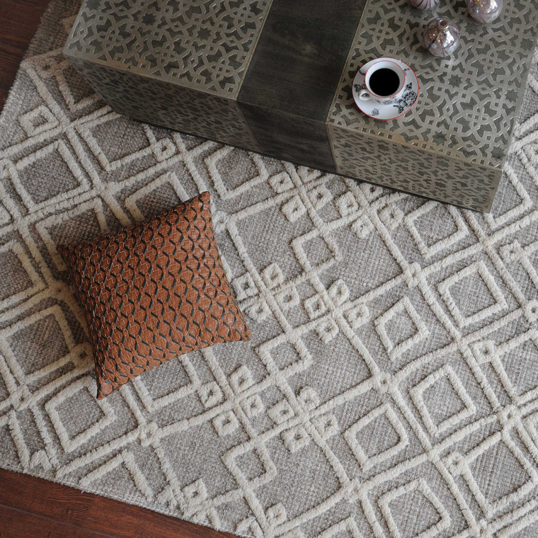 Sieano Gray-Ivory 8 X 10 Rug - Size: 305H x 244W x 1D (cm)