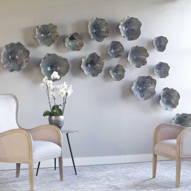 Teo Wood Wall Art Set/3 - Size: 41H x 41W x 13D (cm)