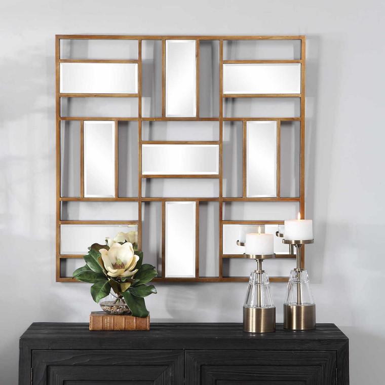 Nadina Mirrored Wall Decor - Size: 91H x 91W x 4D (cm)