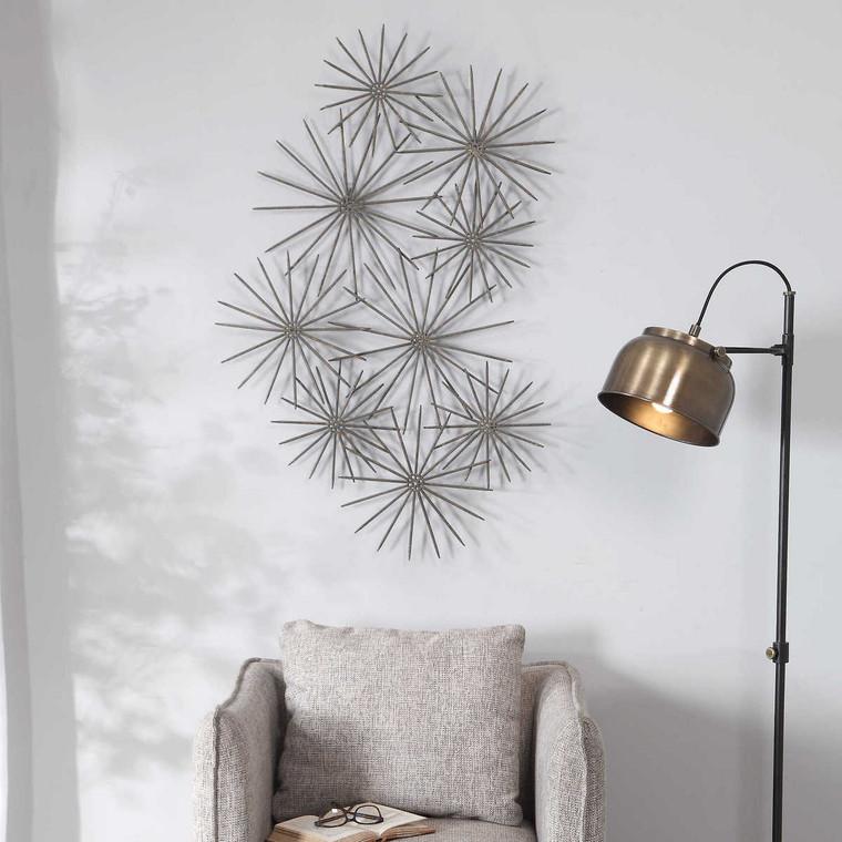 Nixie Metal Wall Decor - Size: 110H x 71W x 6D (cm)