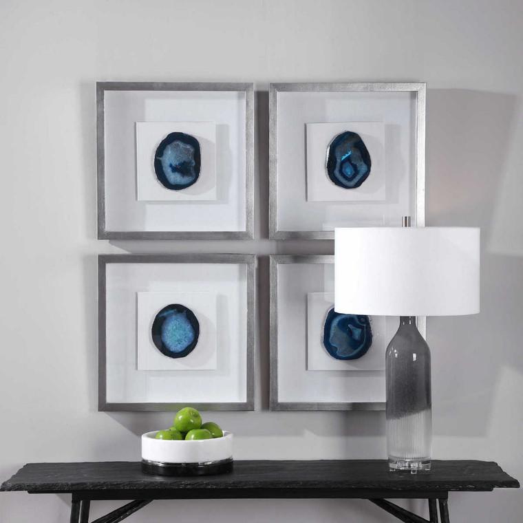 Kalia Blue Stone Shadow Box - Size: 50H x 50W x 5D (cm)