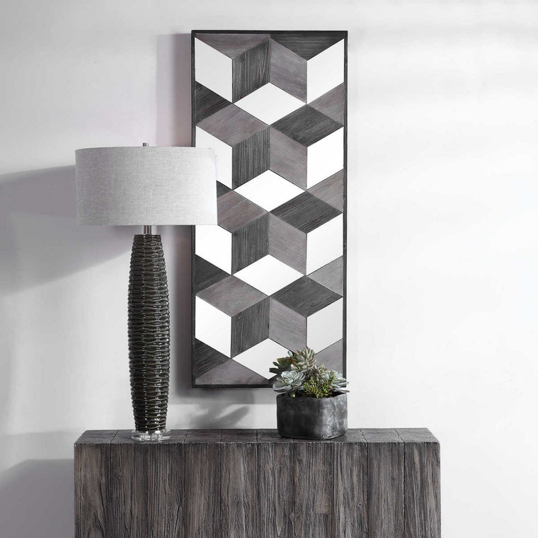 Ambie Mirrored Wall Decor - Size: 122H x 53W x 5D (cm)