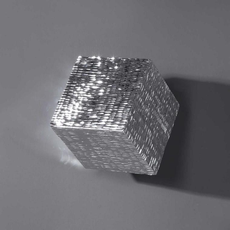 Jessamine Silver Wall Cube - Size: 20H x 20W x 20D (cm)