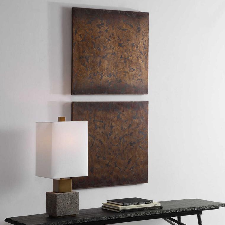 Giordano Metal Wall Decor Set/2 - Size: 61H x 61W x 3D (cm)