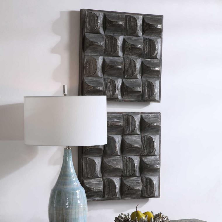 Pickford Wood Wall Decor - Size: 51H x 51W x 11D (cm)