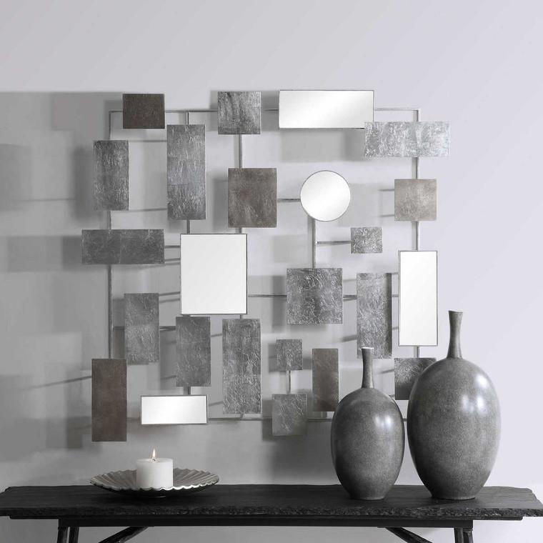 Duska Metal Wall Decor - Size: 104H x 99W x 14D (cm)