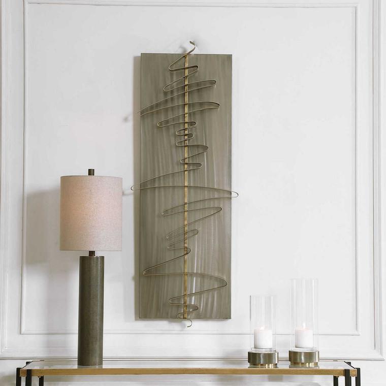 Script Modern Metal Wall Decor - Size: 124H x 47W x 9D (cm)