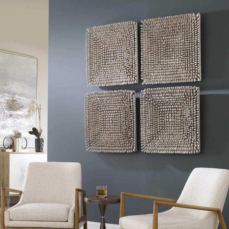 Portside Wood Wall Panel - Size: 61H x 61W x 9D (cm)
