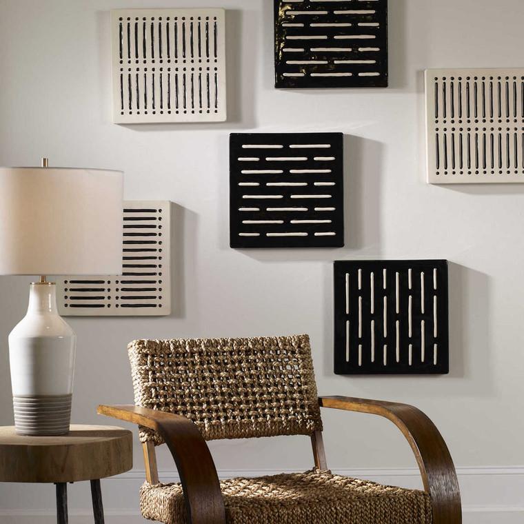 Domino Effect Modern Wall Decor Set/2 - Size: 41H x 41W x 4D (cm)