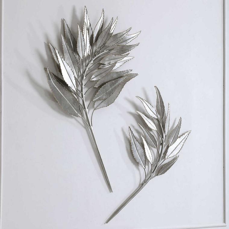 Palm Branches Metal Wall Decor Set/2 - Size: 97H x 65W x 5D (cm)