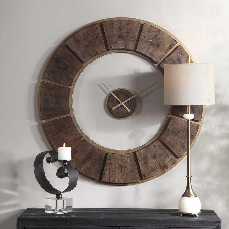 Kerensa Wooden Wall Clock - Size: 101H x 101W x 6D (cm)
