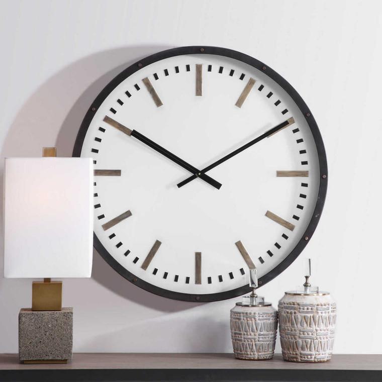 Fleming Large Wall Clock - Size: 81H x 81W x 8D (cm)