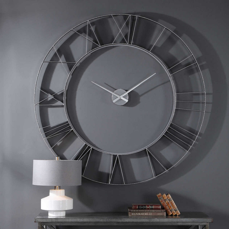 Carroway Art Deco Wall Clock - Size: 152H x 152W x 6D (cm)