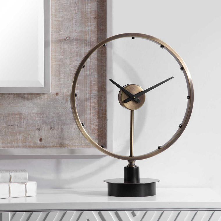 Davy Modern Table Clock - Size: 62H x 48W x 22D (cm)