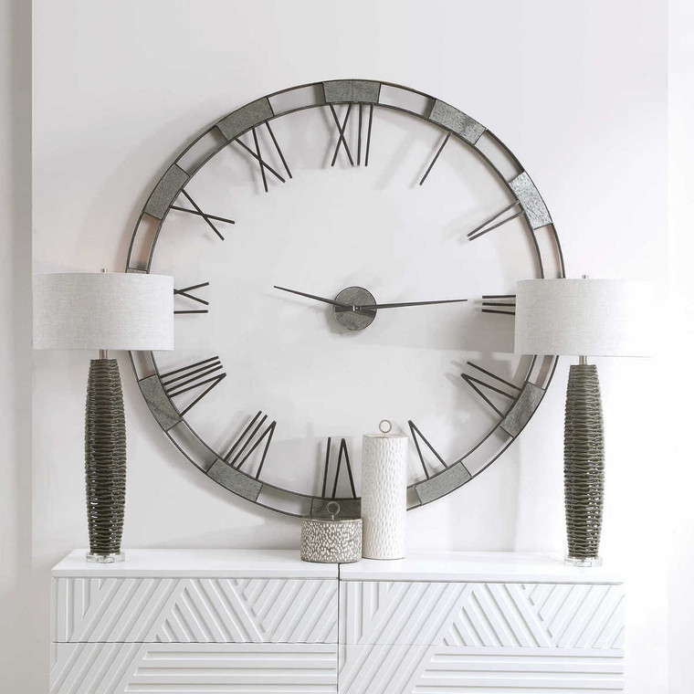 Alistair Modern Wall Clock - Size: 152H x 152W x 8D (cm)