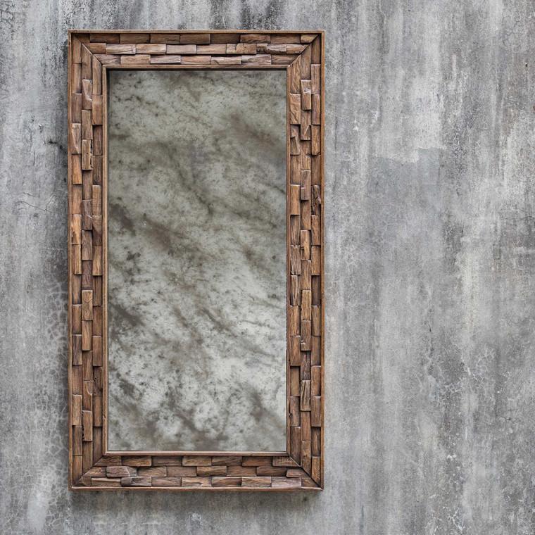 Damon Mosaic Wood Mirror - Size: 148H x 83W x 5D (cm)