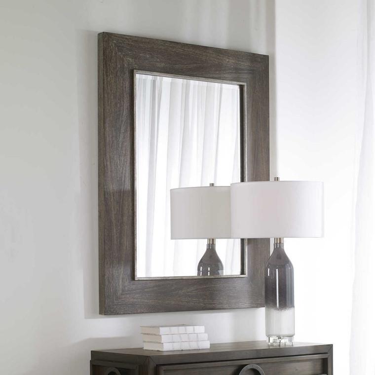 Cainan Dark Walnut Mirror - Size: 124H x 94W x 1D (cm)