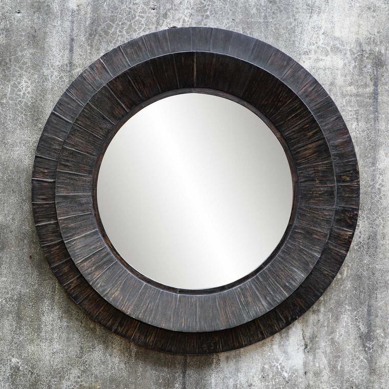 Corral Round Wood Mirror - Size: 102H x 102W x 5D (cm)