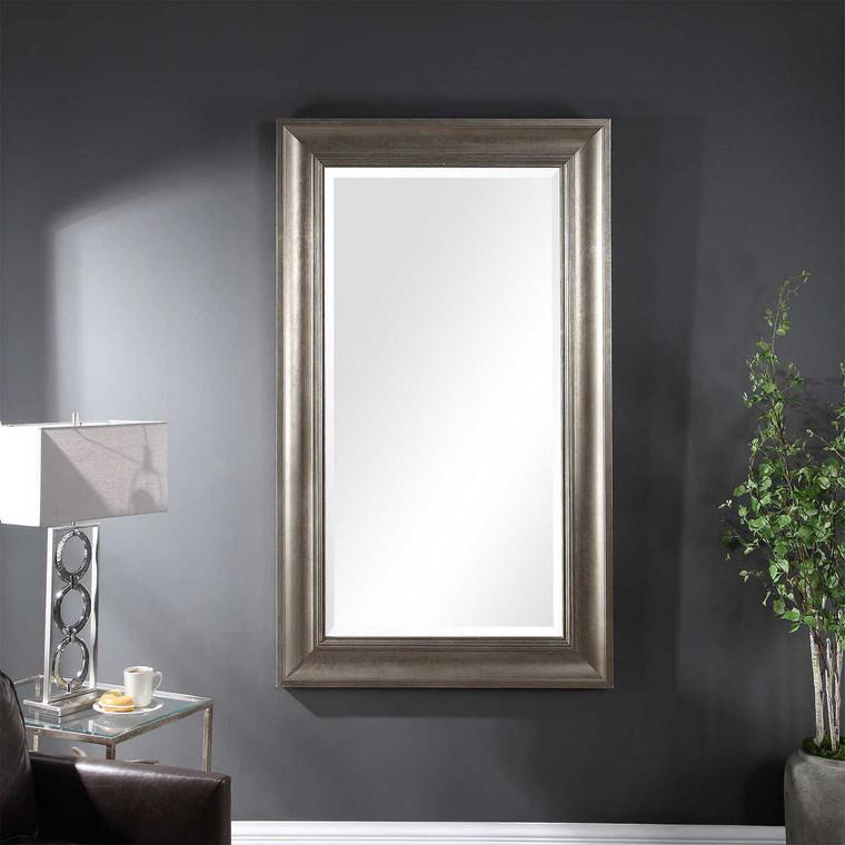 Palia Silver Leaf Wall Mirror - Size: 181H x 105W x 5D (cm)