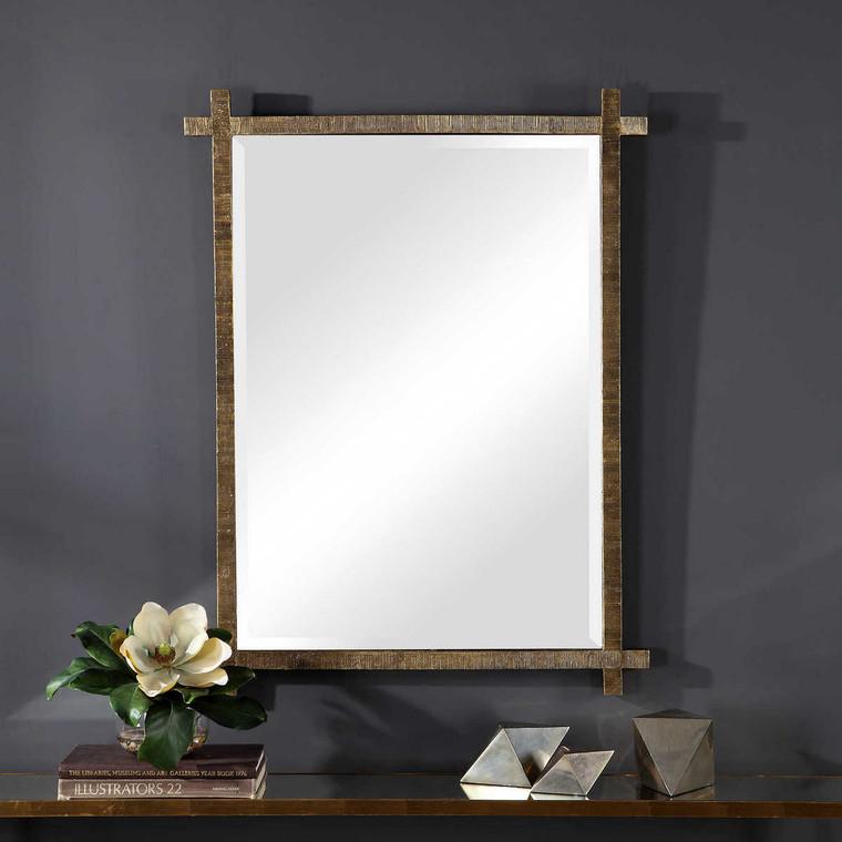 Abanu Gold Vanity Mirror - Size: 101H x 76W x 3D (cm)