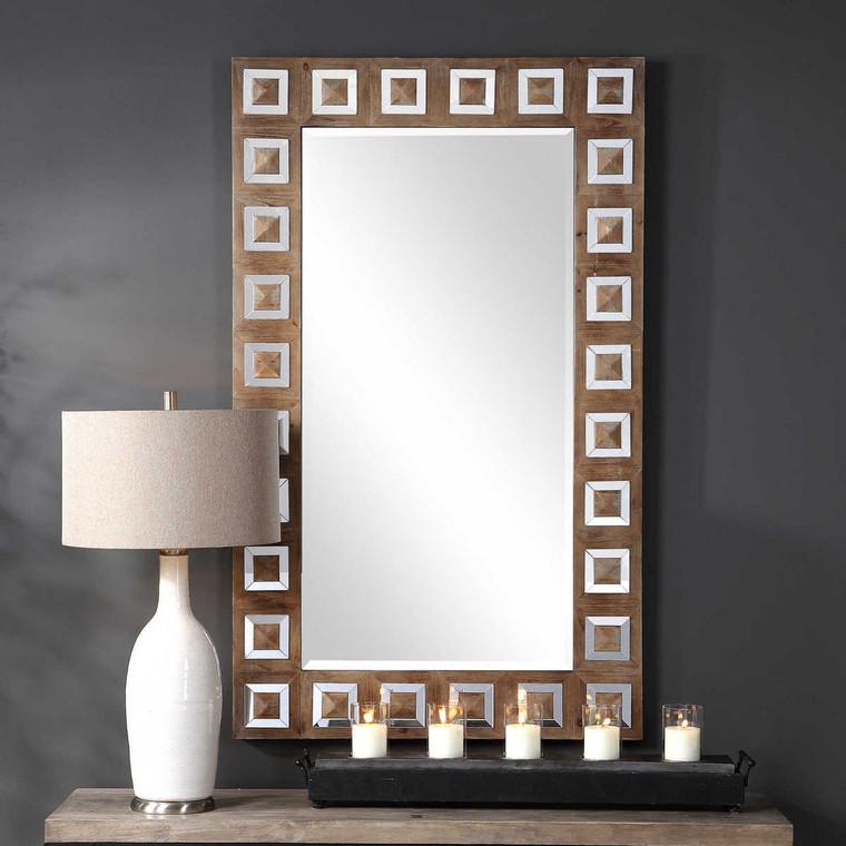 Anara Wooden Mirror - Size: 152H x 91W x 6D (cm)