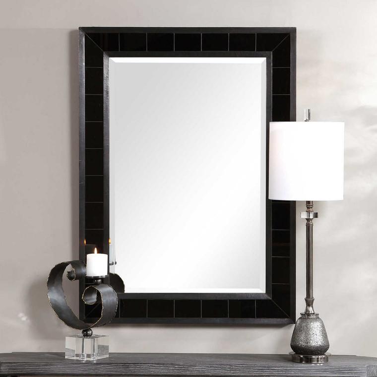 Lonara Black Tile Mirror - Size: 112H x 81W x 5D (cm)