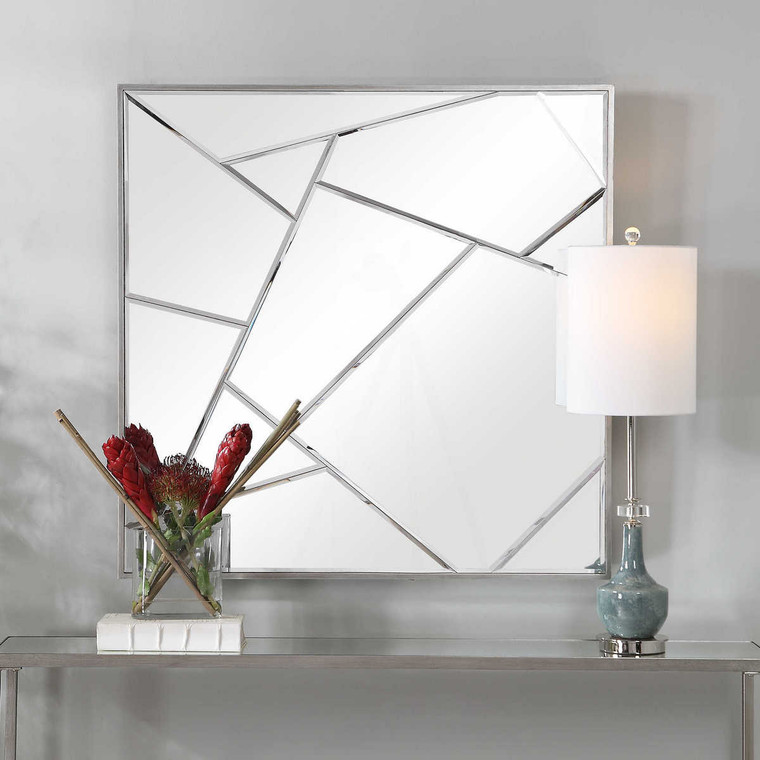 Beria Modern Square Mirror - Size: 102H x 102W x 5D (cm)