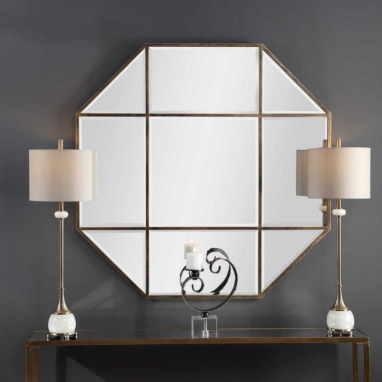 Daniella Octagon Mirror - Size: 122H x 122W x 2D (cm)