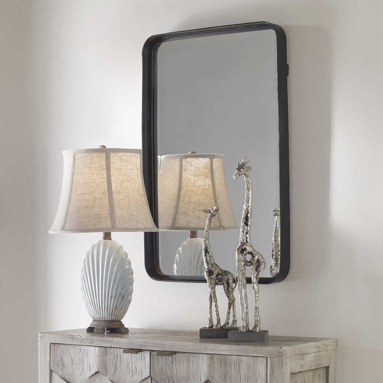 Croften Black Vanity Mirror - Size: 77H x 51W x 6D (cm)