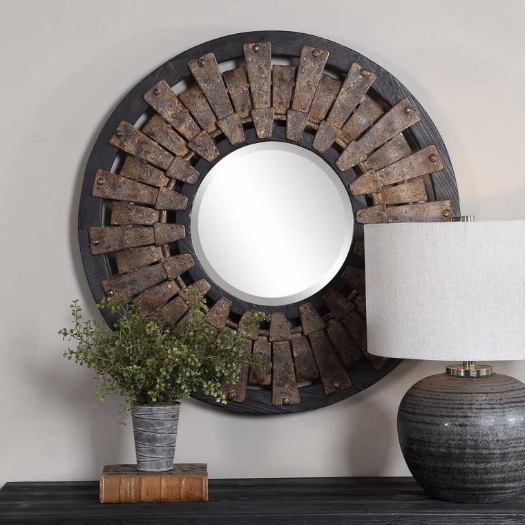 Hyman Round Mirror - Size: 81H x 81W x 7D (cm)