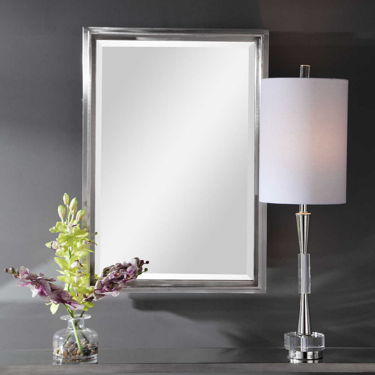 Cosimo Silver Vanity Mirror - Size: 81H x 57W x 6D (cm)