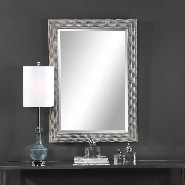 Alwin Silver Mirror - Size: 105H x 75W x 5D (cm)