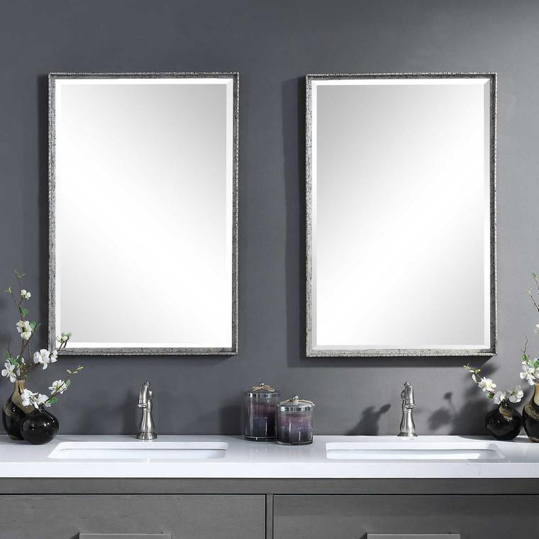 Callan Silver Vanity Mirror - Size: 77H x 51W x 4D (cm)