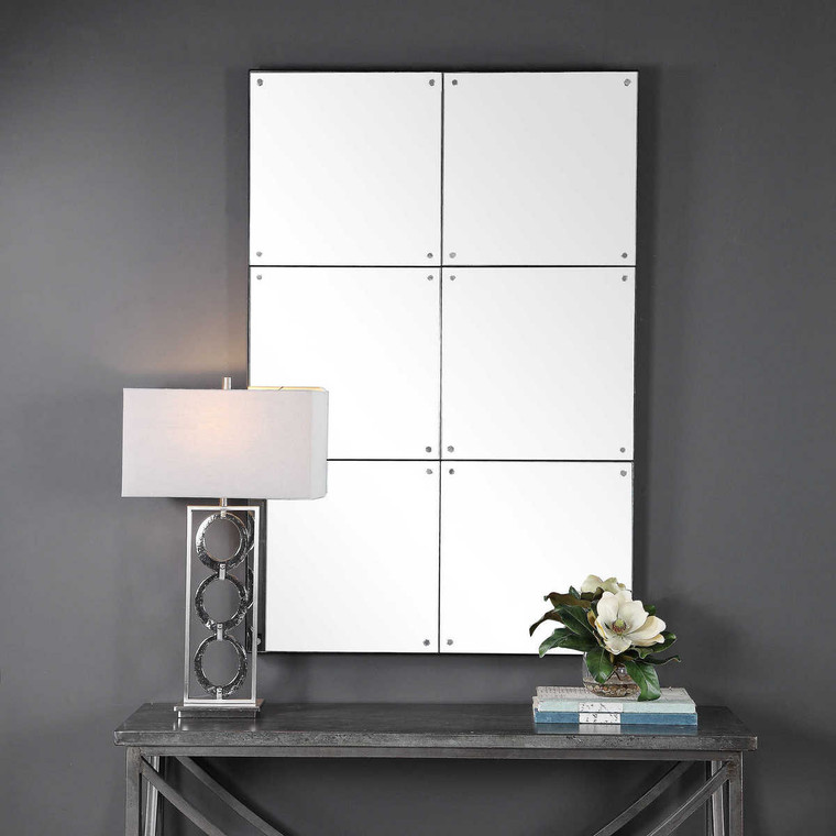 Eldred Industrial Wall Mirror - Size: 142H x 94W x 6D (cm)