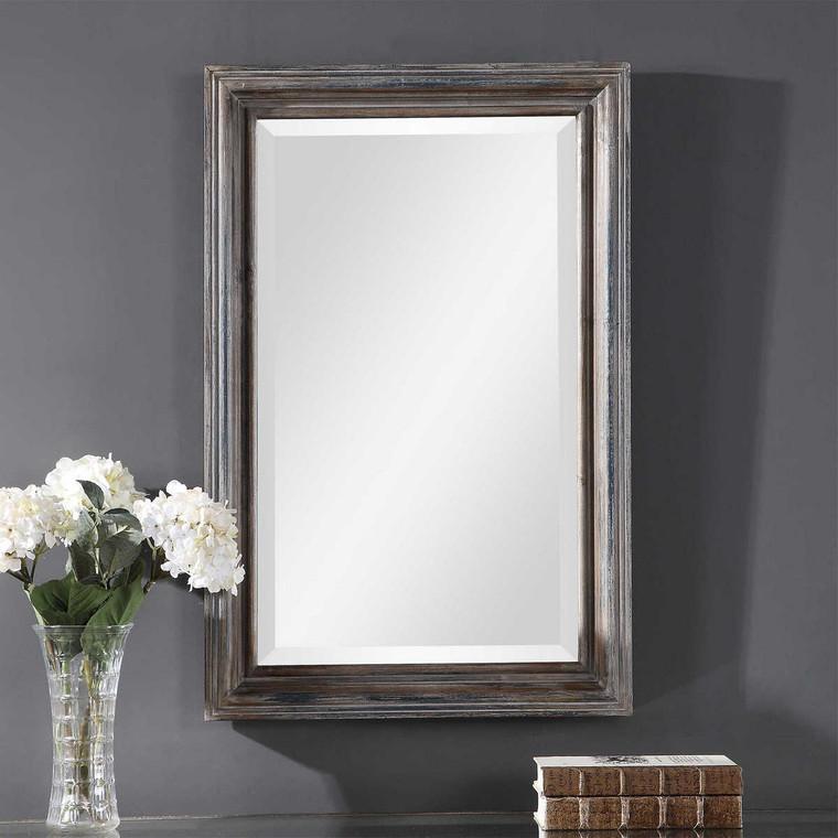 Gulliver Distressed Blue Vanity Mirror - Size: 83H x 54W x 4D (cm)