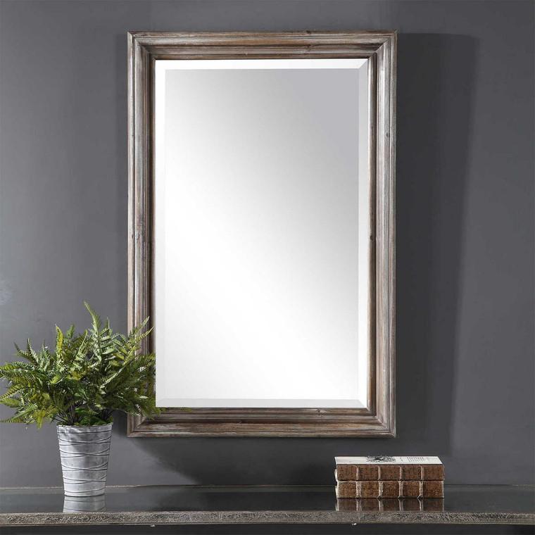 Fielder Distressed Vanity Mirror - Size: 97H x 64W x 4D (cm)