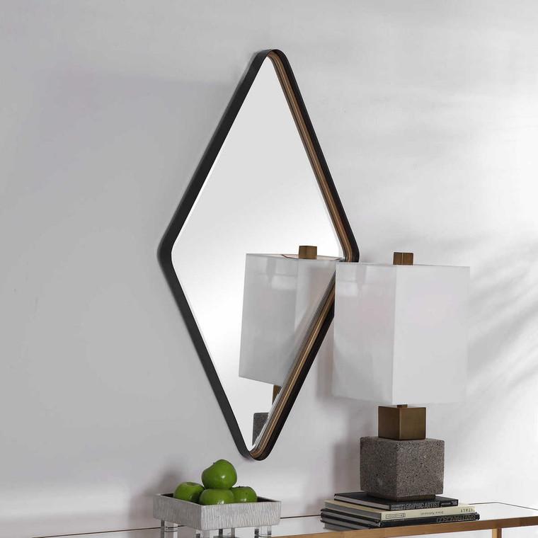 Crofton Diamond Mirror - Size: 107H x 61W x 6D (cm)
