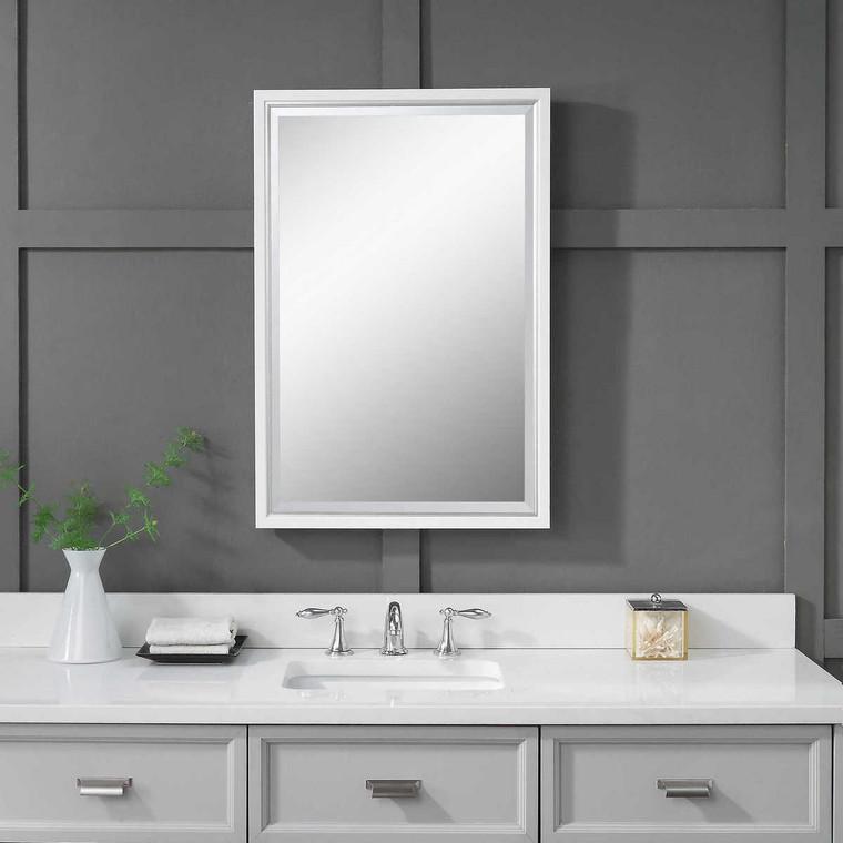 Barnaby White Vanity Mirror - Size: 82H x 56W x 5D (cm)
