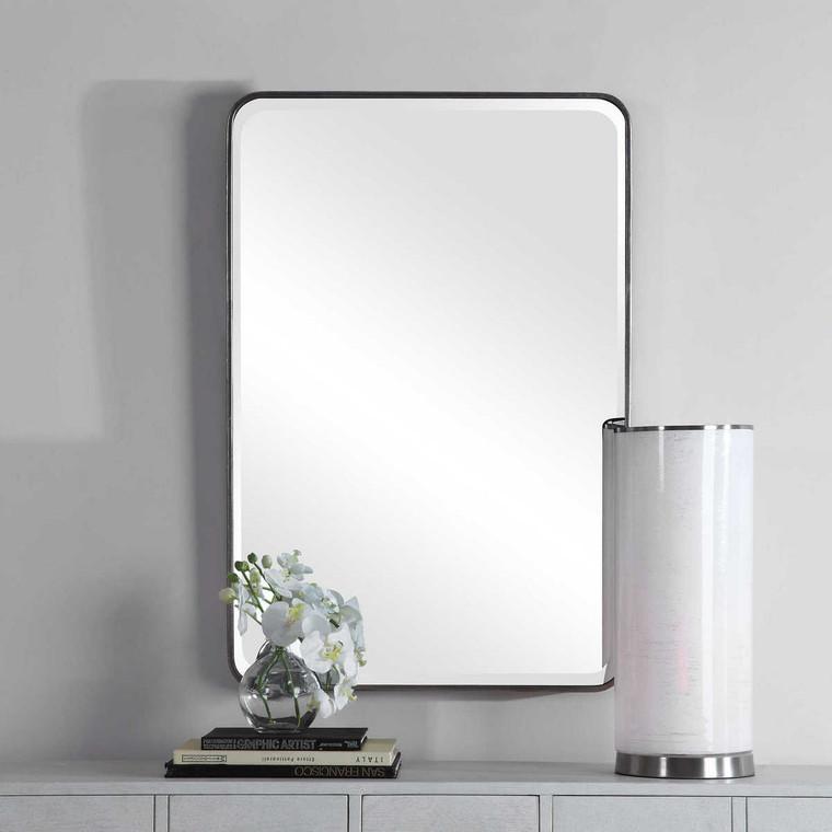 Aramis Silver Mirror - Size: 91H x 61W x 5D (cm)