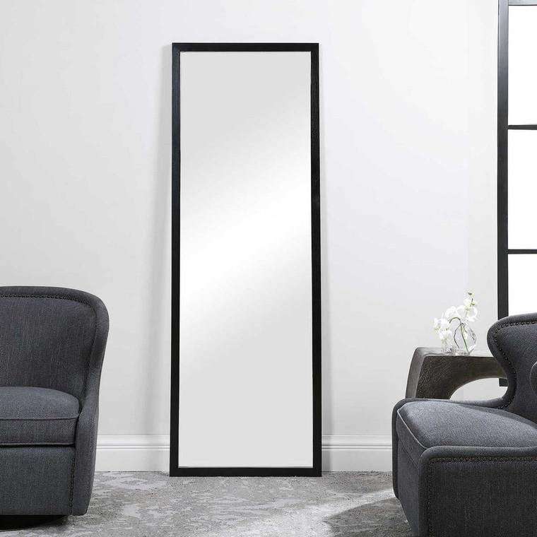 Avri Oversized Dark Wood Mirror - Size: 190H x 68W x 3D (cm)