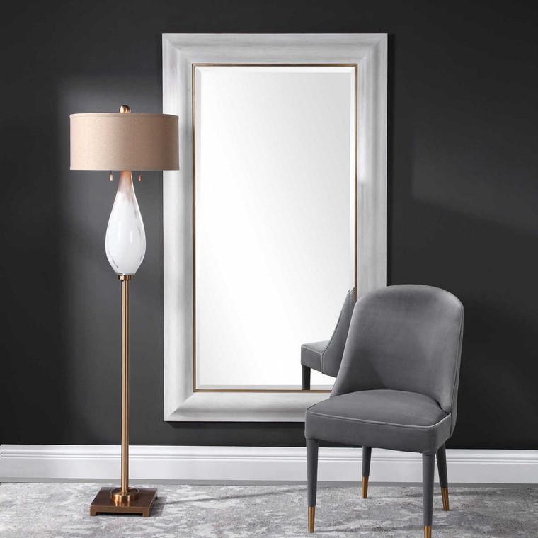 Piper Large White Mirror - Size: 182H x 106W x 5D (cm)