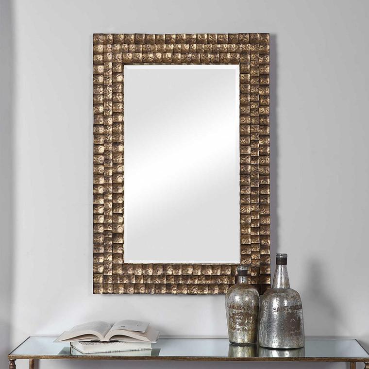 Ramya Gold Mirror - Size: 91H x 62W x 3D (cm)