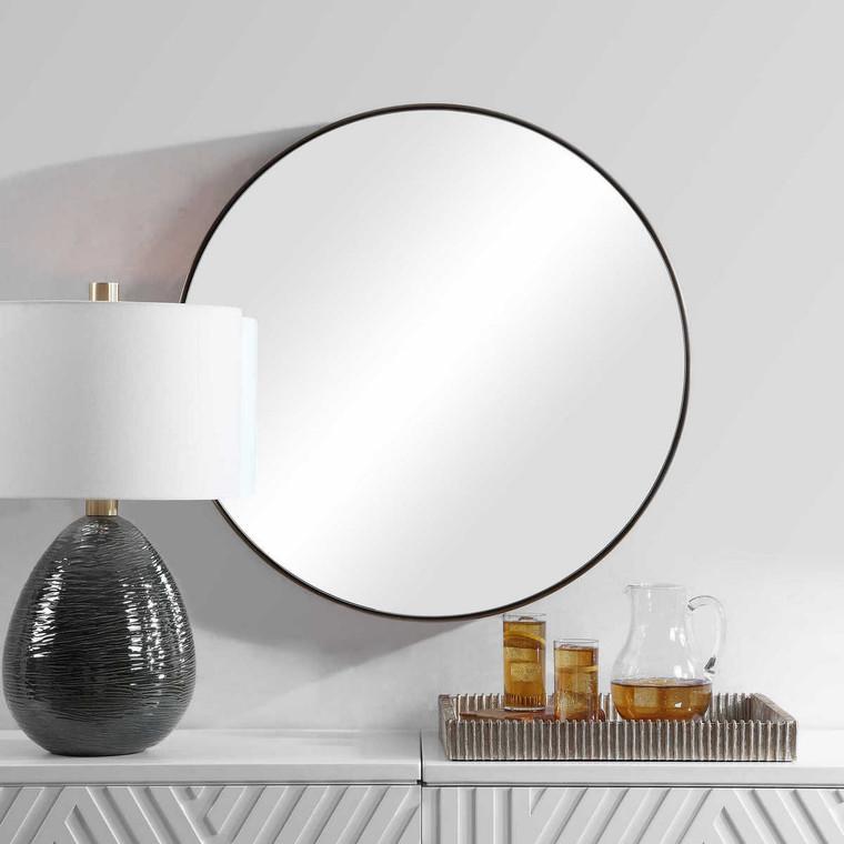 Coulson Modern Round Mirror - Size: 80H x 80W x 11D (cm)