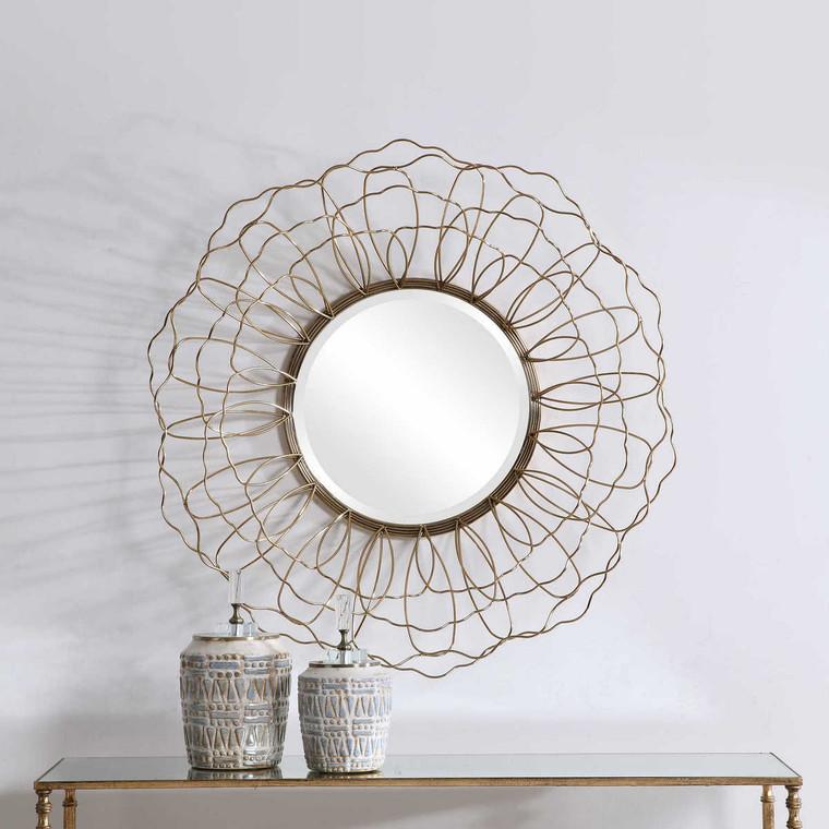 Rosie Round Mirror - Size: 88H x 88W x 20D (cm)